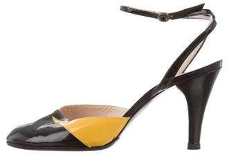 Marc Jacobs Round-Toe Ankle Strap Pumps