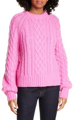 A.L.C. Mick Cable Knit Alpaca Blend Sweater