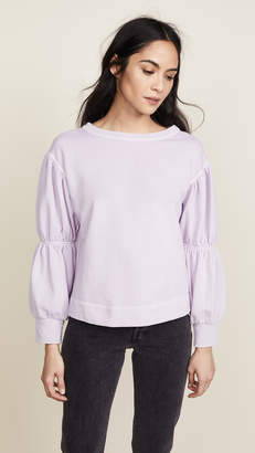 Rebecca Taylor Long Sleeve French Terry Pullover