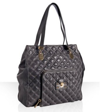 Marc Jacobs grey quilted leather 'Carryall' tall tote