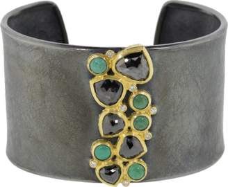Todd Reed Fancy Black Diamond And Turquoise Cuff