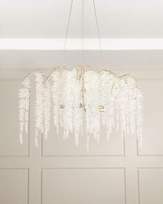 John-Richard Collection Cascading Crystal 6-Light Chandelier