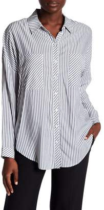 1 STATE 1.State Split High\u002FLow Hem Blouse