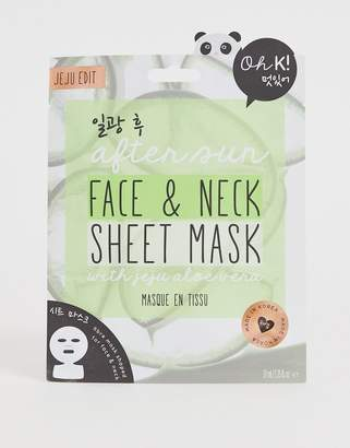 Alöe Oh K! After Sun Sheet Face And Neck Mask