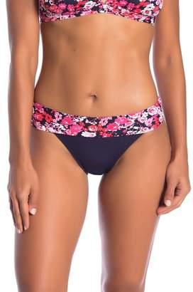 Nautica Core Floral Waistband Bikini Bottoms
