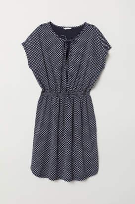 H&M Patterned Jersey Dress - Blue