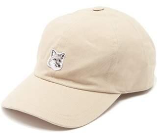 MAISON KITSUNÉ Fox Logo Applique Cotton Blend Cap - Mens - Beige