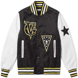Givenchy Leather Sleeve Patch Varsity Jacket