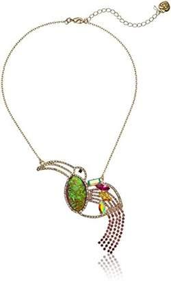 Betsey Johnson GBG)) Paradise Lost Women's Colorful Toucan Pendant Necklace
