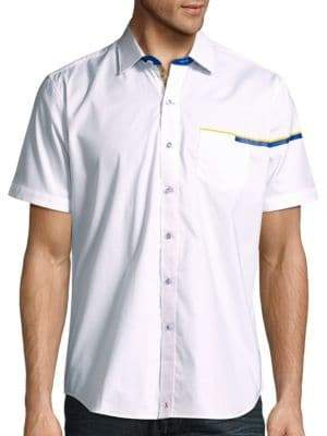 Robert Graham Victorville Tailored-Fit Cotton Short Sleeve Shirt