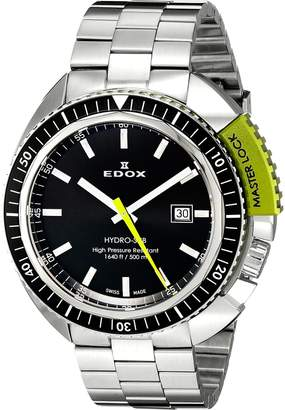 Edox Men's 53200 3NVM NIN Hydro Sub Analog Display Swiss Quartz Watch