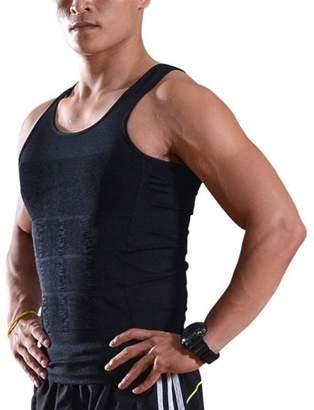 Image Men Sleeveless Slimming Compression Shirt Vest Tank Under Base Layer Body Shaper