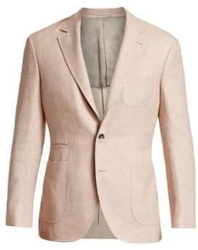Brunello Cucinelli Solid Hopsack Wool Blazer