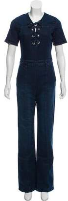 Frame Short Sleeve Flared Jumpsuit w/ Tags