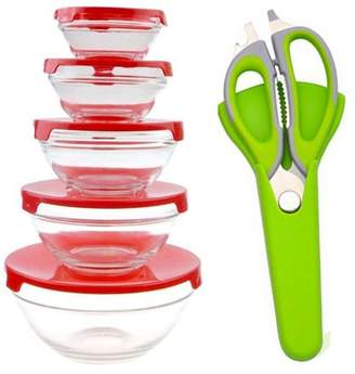 Beauty America Stylish Bowl Set With Free Sharp Kitchen Scissors -5 Piece