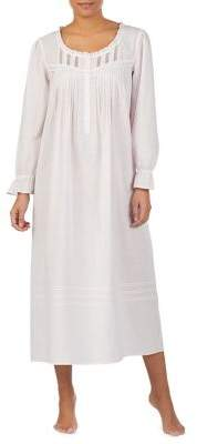 Eileen West Long Sleeve Cotton Nightgown