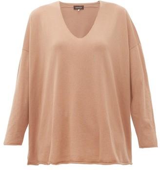 eskandar V Neck Cashmere Sweater - Womens - Camel