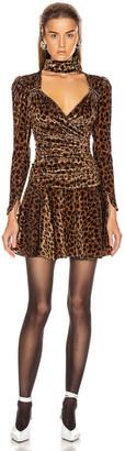 ATTICO Leopard Mini Dress in Natural | FWRD