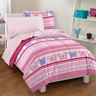 Factory Dream Butterfly Dots Full Mini Comforter Set Multi
