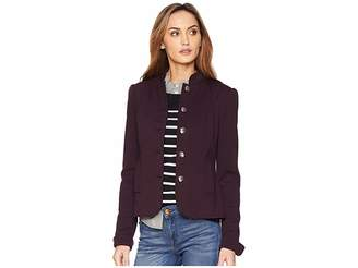 Tommy Hilfiger Stand Collar Button Front Jacket Women's Coat