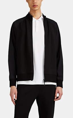 Theory Men's Endurance Ponte-Knit & Tech-Taffeta Jacket - Black