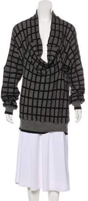 Bernhard Willhelm Patterned Wool-Blend Sweater Black Patterned Wool-Blend Sweater