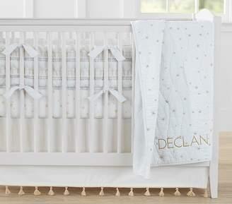 Pottery Barn Kids Nursery Bumper Bedding Set: Bumper, Crib Fitted Sheet & Crib Skirt