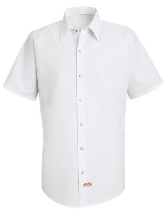 Red Kap Men's Short Sleeve Specialized Pocketless Polyester Work Shirt
