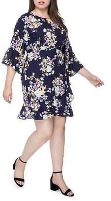 Bobeau B Collection by Curvy Royal Garden Flutter Dress