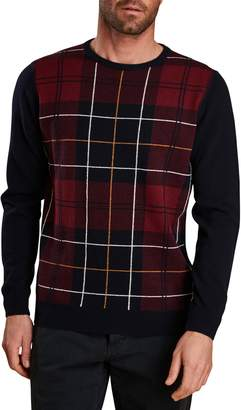 Barbour Coldwater Plaid Wool Crewneck Sweater