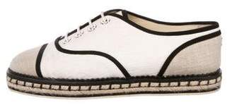 Chanel 2016 Cap-Toe Espadrille Sneakers