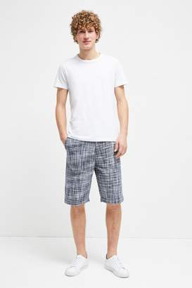 French Connection Linen Chambray Gingham Shorts