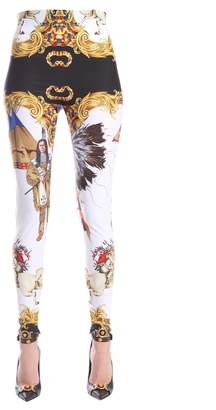 Versace Leggings With Zip