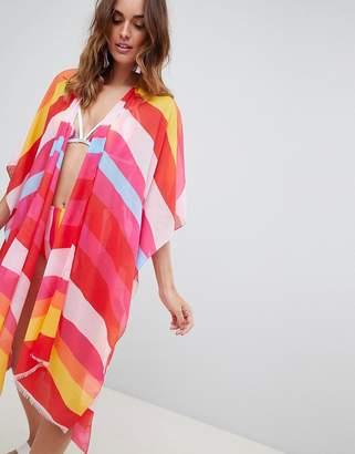 Vero Moda Block Stripe Beach Kimono