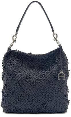 Etienne Aigner Irena Woven Leather Messenger Shoulder Bag