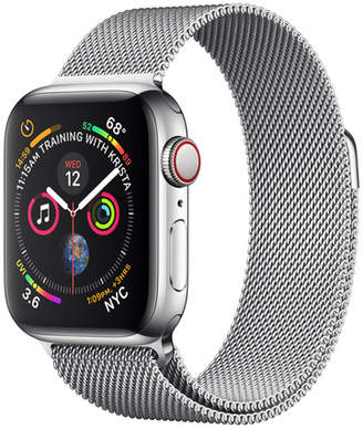 Apple AppleWatch Series4 GPS+Cellular, 40mm Stainless Steel Case with Milanese Loop