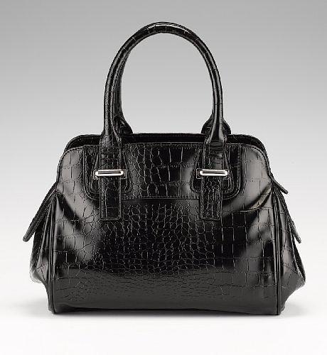 Portfolio Faux Crocodile Skin Tote Bag