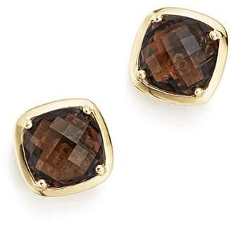 Bloomingdale's Smoky Quartz Stud Earrings in 14K Yellow Gold - 100% Exclusive