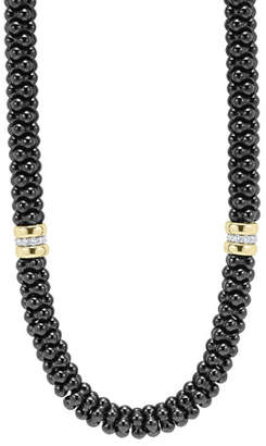 Lagos Black Caviar 2-Station Necklace