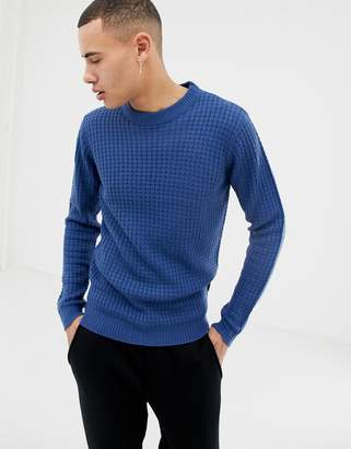 D-Struct Chunky Waffle Knit Sweater