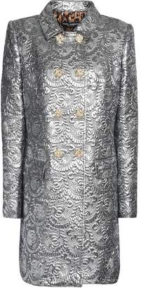 Dolce & Gabbana Double-breasted Metallic Brocade Coat
