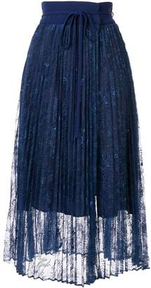 Mame Kurogouchi high waisted pleated midi skirt