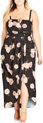 City Chic Antique Rose Maxi Dress