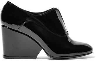Robert Clergerie - Trevor Patent-leather Pumps - Black $575 thestylecure.com