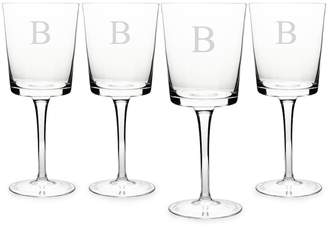 Cathy's Concepts Cathys Concepts Monogram 4-pc. Contemporary Wine Glass Set