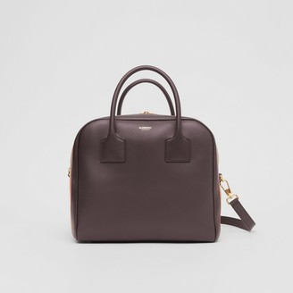 Burberry Medium Stripe Intarsia Leather Cube Bag