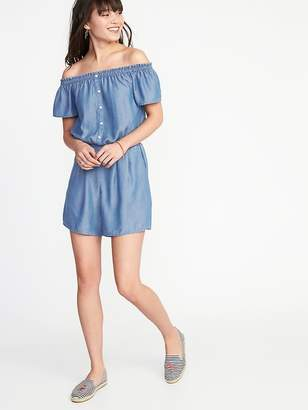 Old Navy Off-the-Shoulder Tencel® Romper for Women
