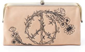 Hobo Lauren Floral Peace Leather Clutch