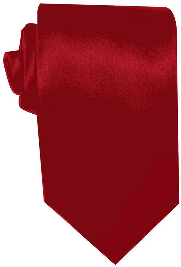 Geoffrey Beene Solid Sateen Tie