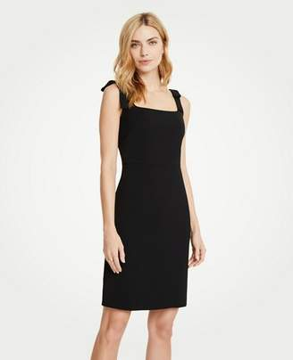 Ann Taylor Bow Strap Sheath Dress